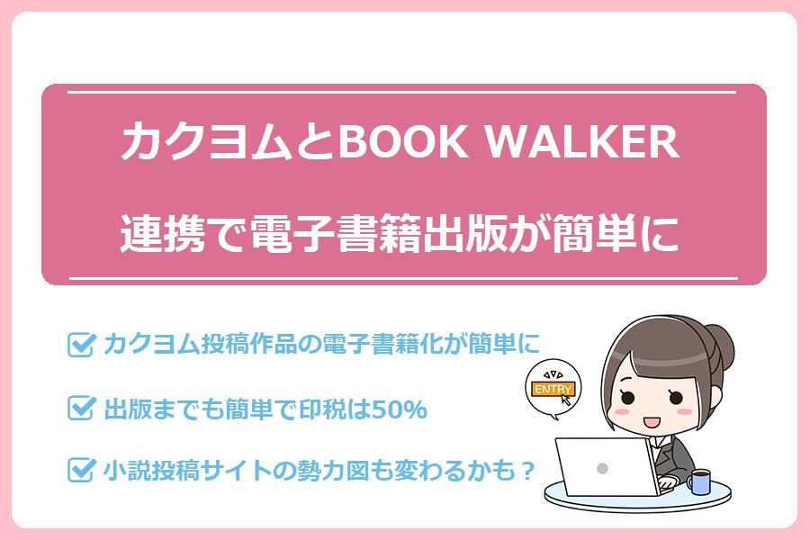 カクヨムとBOOKWALKER連携で電子書籍出版が簡単に。印税は50%
